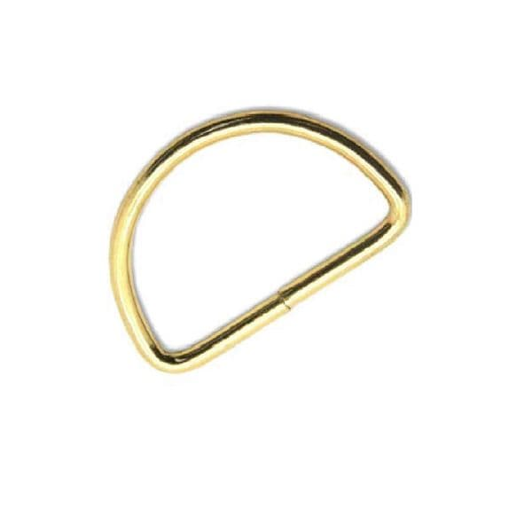 Bag Handle 'D' ring (pair) - 25mm Silver or Gold